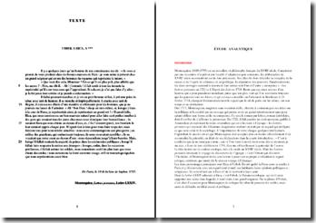 Montesquieu, Lettres persanes, Lettre LXXIV : étude analytique