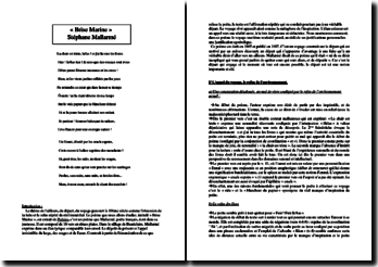 Stéphane Mallarmé, Brise Marine : commentaire