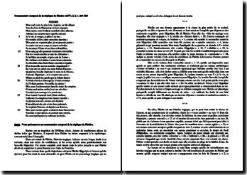 Racine, Phèdre, Acte I scène 3 : commentaire composé