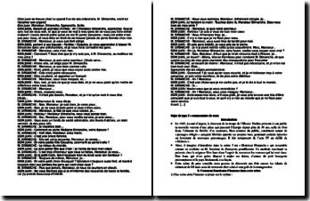 Molière, Dom Juan, Acte IV scène 3 : commentaire d'un extrait