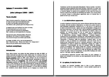 Jules Laforgue, Spleen : commentaire composé