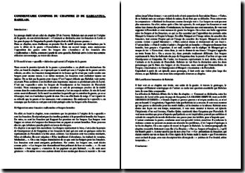Rabelais, Gargantua, Chapitre 23 : commentaire