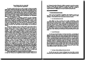 Le récit exemplaire de l'argumentation dans Le Tiers Livre de Rabelais