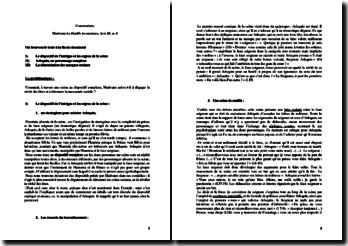 Marivaux, La Double inconstance, Acte III scène 4 : commentaire