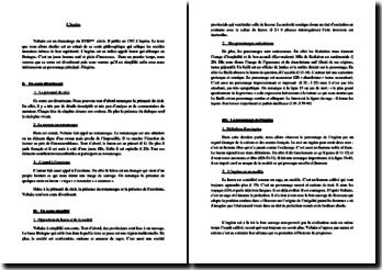 Voltaire, L'Ingénu, Chapitre 1 : lecture analytique