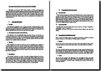 Joachim Du Bellay, Les Regrets, Sonnet IX, France, mère des arts, des armes et des lois : lecture analytique