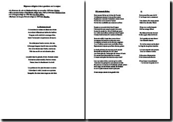 Poèmes sur la guerre de Rimbaud, Apollinaire, Aragon et Prévert : devoir corrigé de Littérature