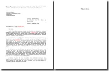 Lettres de réponse d'offre par courrier dans le domaine bancaire