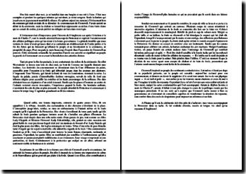 Ecriture d'invention sur le couronnement d'Oliver Cromwell