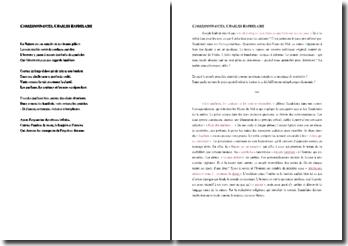 Baudelaire, Correspondances : commentaire composé