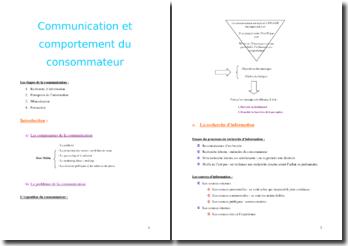 La communication et le comportement du consommateur