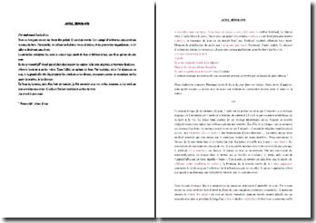 Rimbaud, Aube : commentaire composé