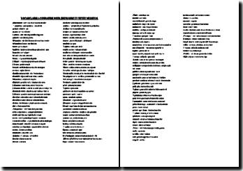 Le vocabulaire à connaître pour lire un texte médiéval