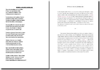 Charles Baudelaire, Hymne à la beauté : commentaire composé