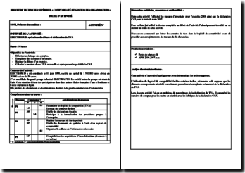Activité Professionnelle de Synthèse (APS) de l'entreprise Electrosud : inventaire