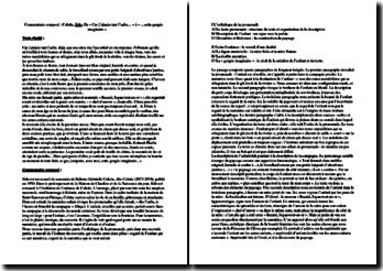 Colette, Sido, Extrait : commentaire composé