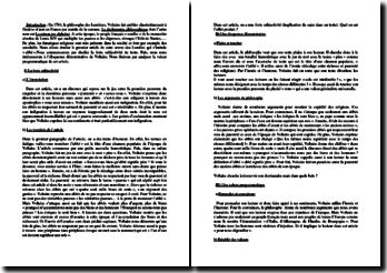 Voltaire, Dictionnaire philosophique, Article Abbé : commentaire