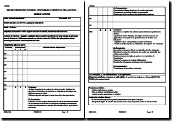 Fiche d'Activité Professionnelle de Synthèse (APS) : entreprise SAB DECO