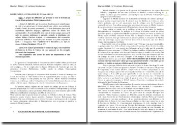 Rabelais, Gargantua, 4-24 : L'uniforme et le discontinu d'après Jeanneret : dissertation