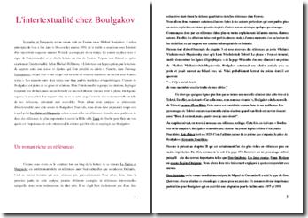 L'intertextualité dans Le Maître et Marguerite de Boulgakov