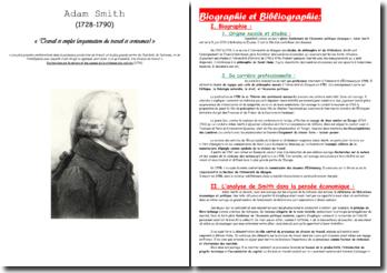 Adam Smith (1728-1790) : Travail et emploi (organisation du travail et croissance)