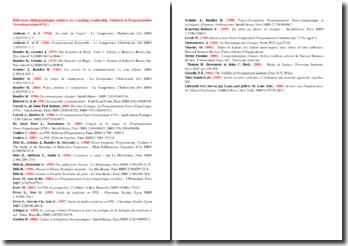 Bibliographie relative au coaching, au leadership, au mentorat et à la programmation neurolinguistique (PNL)