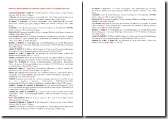 Bibliographie relative à l'ergonomie, l'hygiène, la sécurité et la psychologie du travail