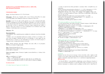 Rousseau, La Nouvelle Héloïse, Livre I, Lettre 26 : commentaire