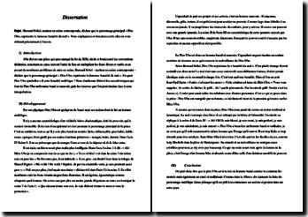 Dissertation à partir d'une citation de Bernard Sobel : Père Ubu, représente la fameuse banalité du mal