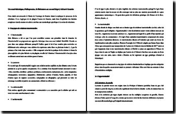 Gérard Genette, Palimpsestes, La littérature au second degré : résumé de l'oeuvre