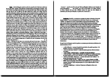 Marcel Proust, A la recherche du temps perdu, La prisonnière, La mort de Bergotte devant le petit pan de mur jaune : analyse