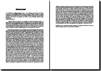 La ligne de défense dans le procès fait à Manon Lescaut de l'abbé Prévost