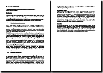 Maupassant, Bel-Ami, Chapitre II : commentaire d'extrait