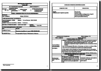 Fiche de communication commerciale : BTS Négociation Relation Client (NRC)