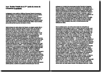 Lampedusa, Le Guépard, 5ème Partie : commentaire