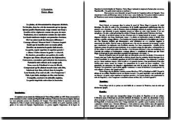 Victor Hugo,Les Chatiments, L'expiation : commentaire composé