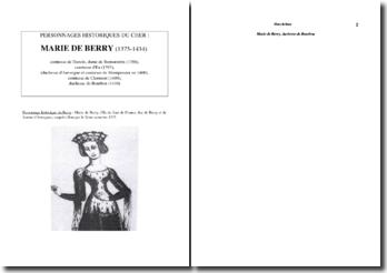 Marie de Berry, duchesse de Bourbon (1375-1434)