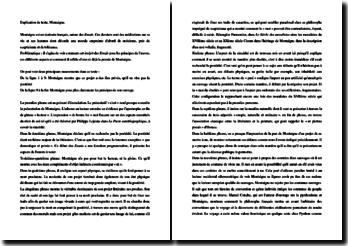 Montaigne, Les Essais : commentaire linéaire de l'incipit