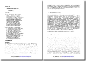 Apollinaire, Poèmes à Lou, Ma Lou, XXXII : commentaire composé