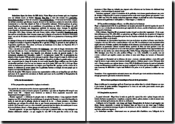 Victor Hugo, Les Châtiments, Nox : commentaire d'un extrait