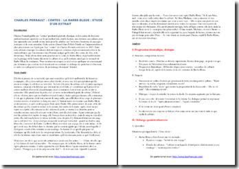 Charles Perrault, Contes, La Barbe-Bleue : commentaire composé