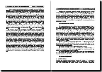 Diderot, Encyclopédie, Autorité politique