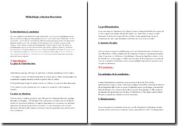 Méthodologie de la dissertation/rédaction