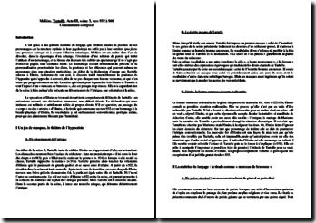 Molière, Tartuffe, Acte III scène 3 : commentaire (vers 932-960)