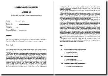 Choderlos de Laclos, Les Liaisons dangereuses, Lettre 125 : commentaire