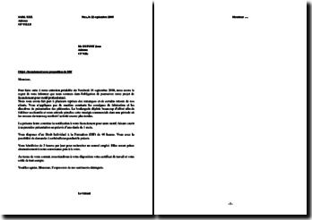 Lettre de licenciement avec proposition de DIF