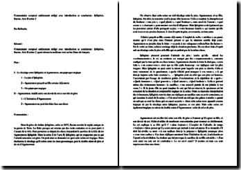 Jean Racine, Iphigénie, Acte II scène 2 : commentaire composé