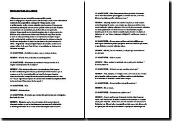 Diderot, Entretien d'un philosophe avec la Maréchale de ***, Extrait : commentaire