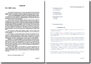 Montesquieu, Lettres persanes, Lettre XXIV: commentaire