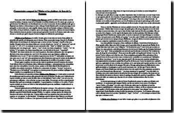 Jean de La Fontaine, L'Huître et les Plaideurs : commentaire